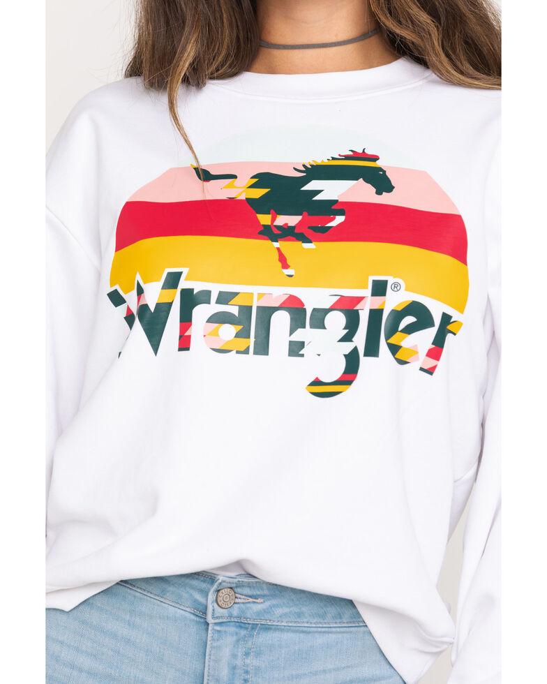 Wrangler Modern Women's White 80's Retro Sweatshirt, White, hi-res