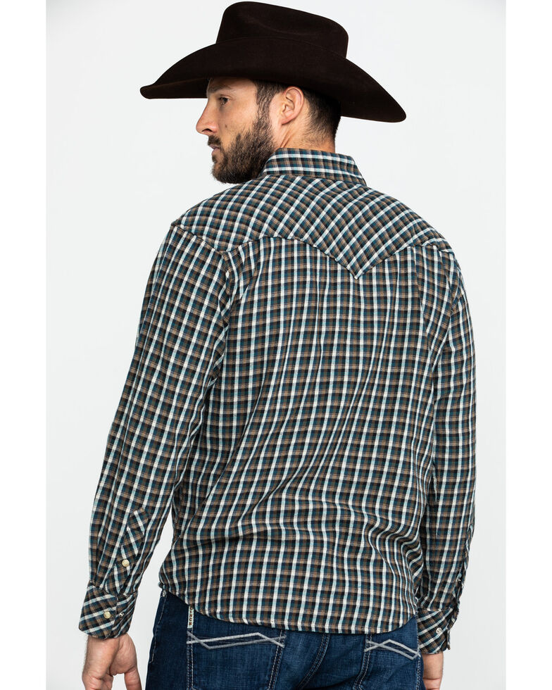Resistol Men's Davy Crockett Small Plaid Long Sleeve Western Shirt , , hi-res