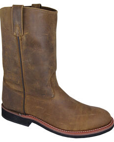 Smoky Mountain Men's Wellington Cowboy Boots - Round Toe, Brown, hi-res
