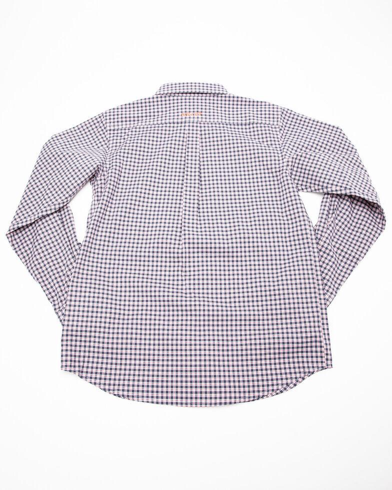 Ariat Boys' Umber Stretch Multi Plaid Long Sleeve Western Shirt , Multi, hi-res