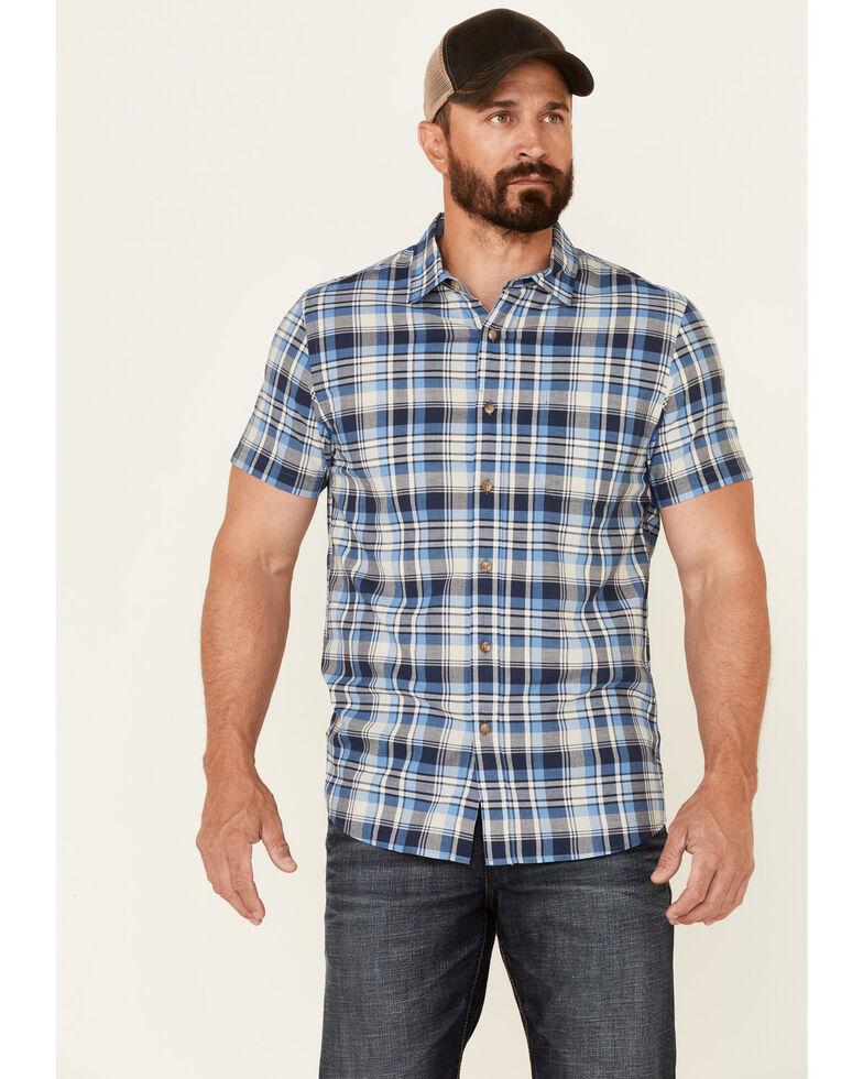 Pendleton Men's Navy Truman Large Plaid Short Sleeve Button-Down Western Shirt , Multi, hi-res