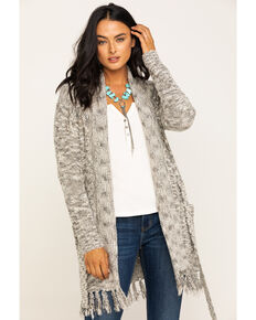 Idyllwind Women's Grit N Knit Cardigan, Grey, hi-res