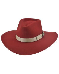 Bullhide Women's Red Street Gossip Western Wool Hat , Red, hi-res