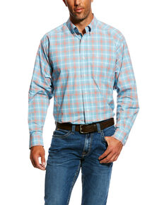 Ariat Men's Naragon Stretch Performance Multi Plaid Long Sleeve Western Shirt , Multi, hi-res