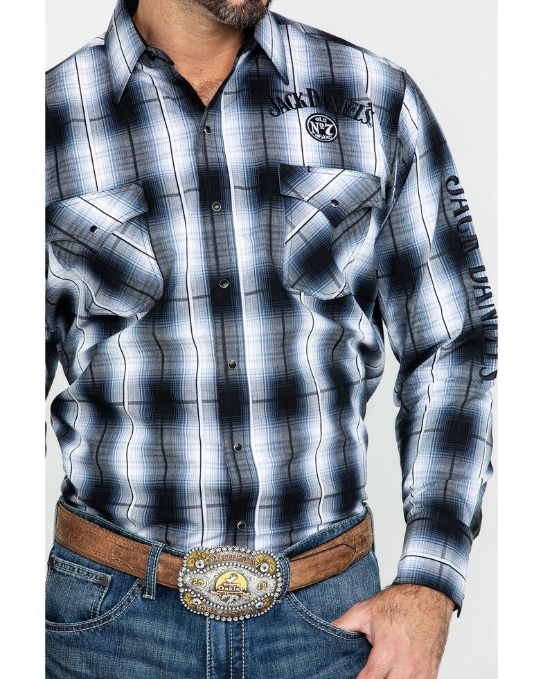 Jack Daniel's Men's Black Embroidered Large Plaid Long Sleeve Western Shirt , Black, hi-res