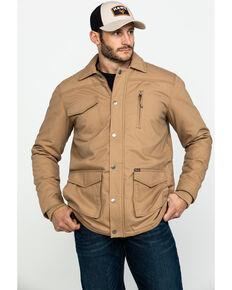 Wrangler Men's Rawhide Quilted Barn Coat , Tan, hi-res