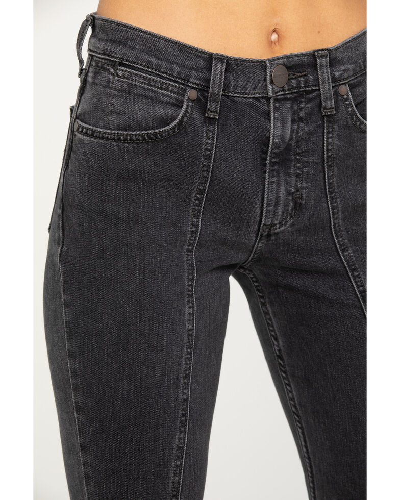 Wrangler Women's Modern Charcoal Seamed Flare Jeans, Charcoal, hi-res