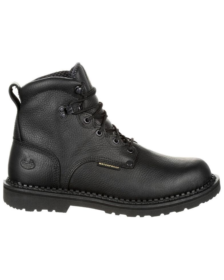 Georgia Boot Men's Giant Waterproof Work Boots - Round Toe, Black, hi-res