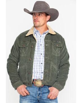 Wrangler Men's Olive Heritage Cowboy Sherpa Jacket , Olive, hi-res