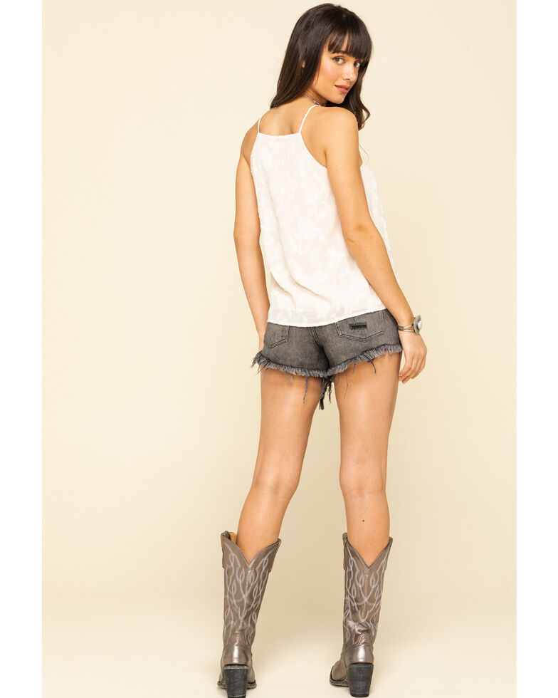 Free People Women's Grey Loving Good Vibrations Shorts, Grey, hi-res