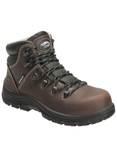 Avenger Women's Framer Waterproof Hiker Boots - Composite Toe, Brown, hi-res