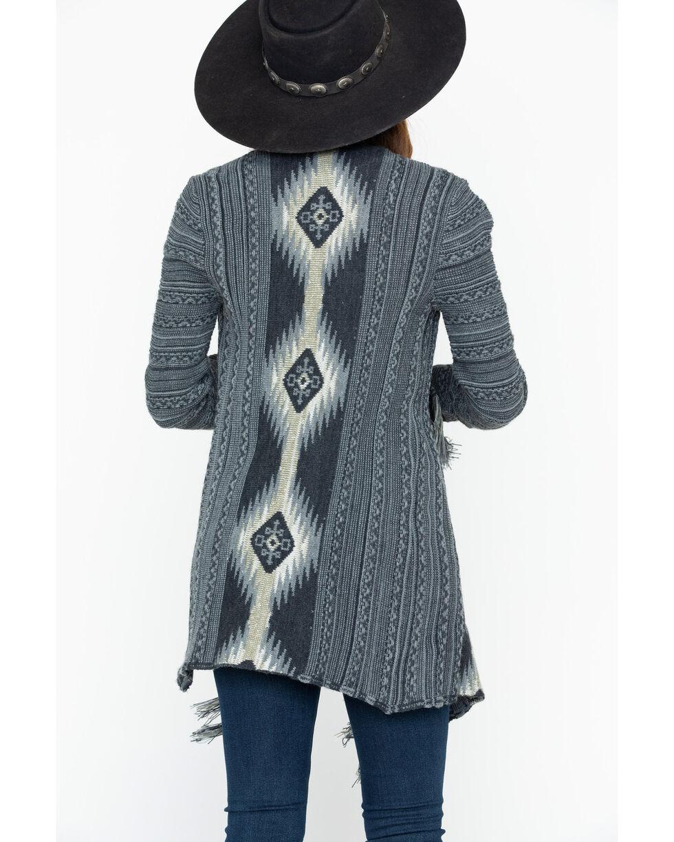 Shyanne Women's Aztec Cascade Cardi Sweater , Charcoal, hi-res