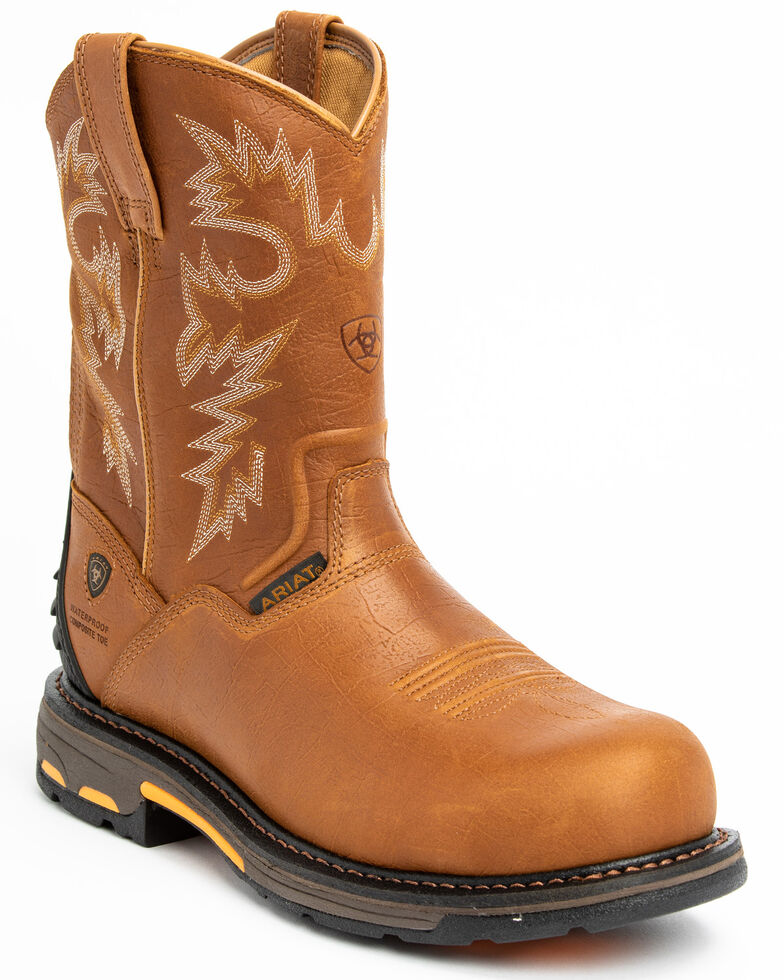 Ariat Men's Workhog RT H2O Composite Toe Work Boots, Bark, hi-res