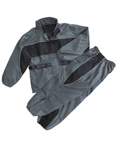 Milwaukee Leather Men's Reflective Waterproof Rain Suit, Dark Grey, hi-res