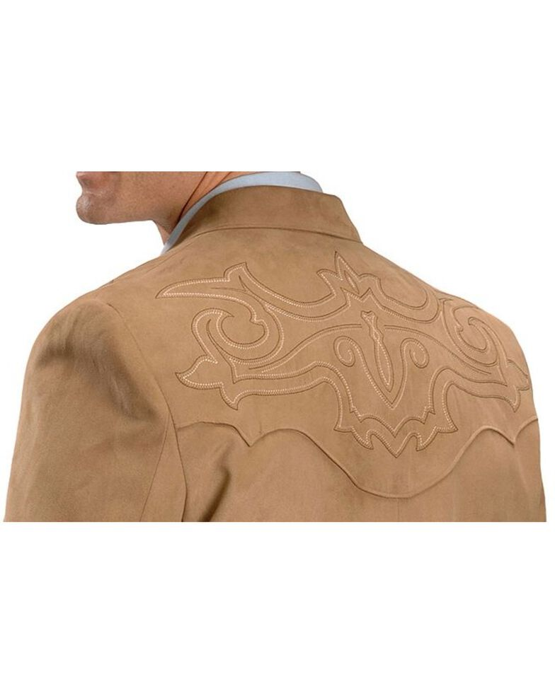 Circle S Men's Embroidered Microsuede Sport Coat, Tan, hi-res