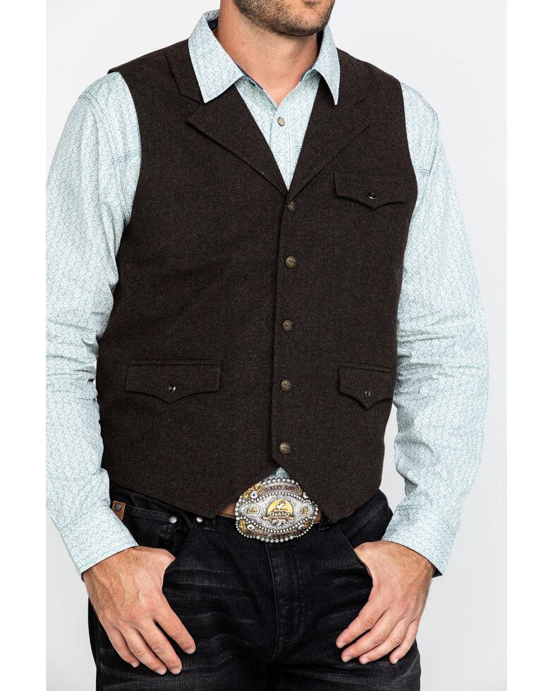 Moonshine Spirit Men's Riverbend Wool Heathered Vest , Burgundy, hi-res