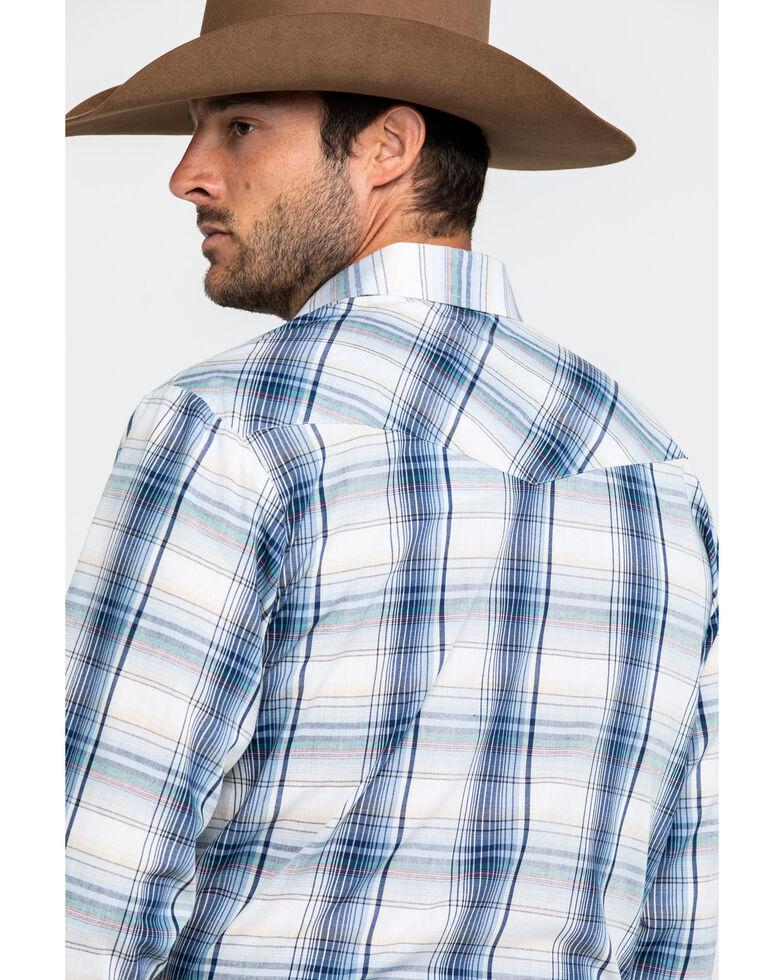 Roper Men's Classic Blue Plaid Woven Plaid Long Sleeve Western Shirt , Blue, hi-res