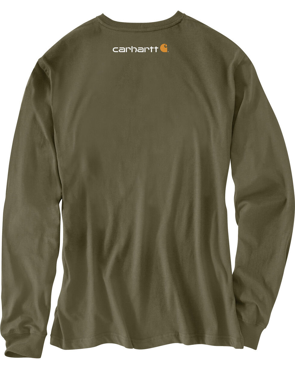 Carhartt Graphic Distressed Saw Long Sleeve T-Shirt , Green, hi-res