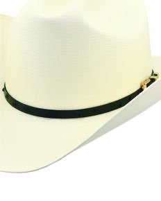 Larry Mahan Men's 30X Corona Cognac Full Quill Ostrich Band Straw Hat , Ivory, hi-res