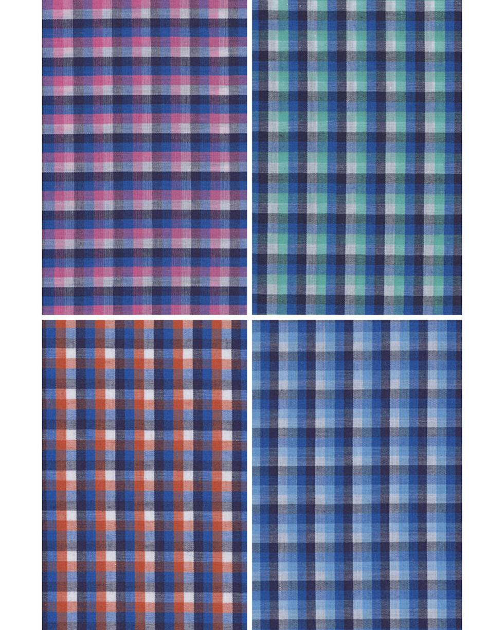 Wrangler Men's Assorted Riata Small Plaid Long Sleeve Western Shirt, Multi, hi-res