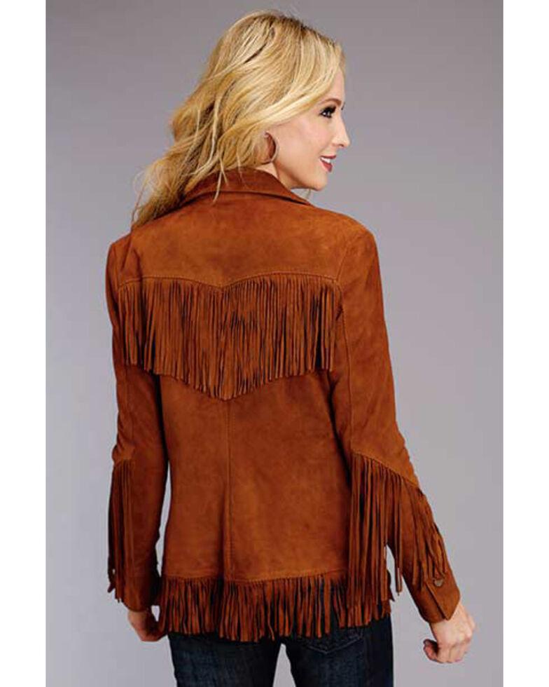 Stetson Women's Brown Suede Fringe Jacket, Brown, hi-res