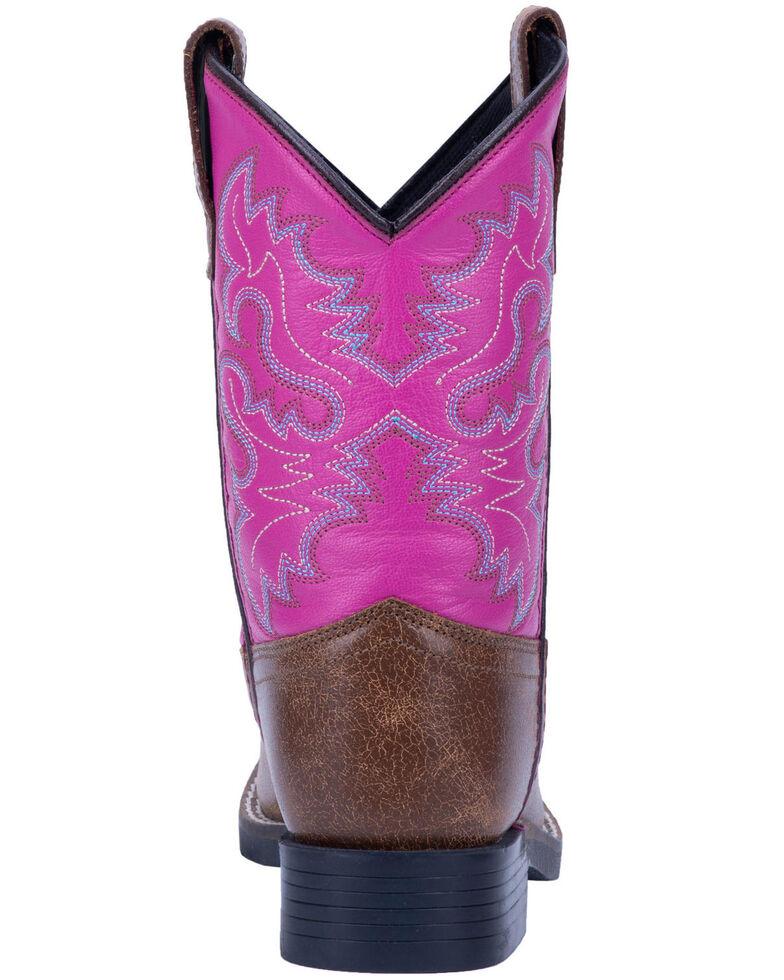 Dan Post Girls' Punky Western Boots - Wide Square Toe, Tan, hi-res