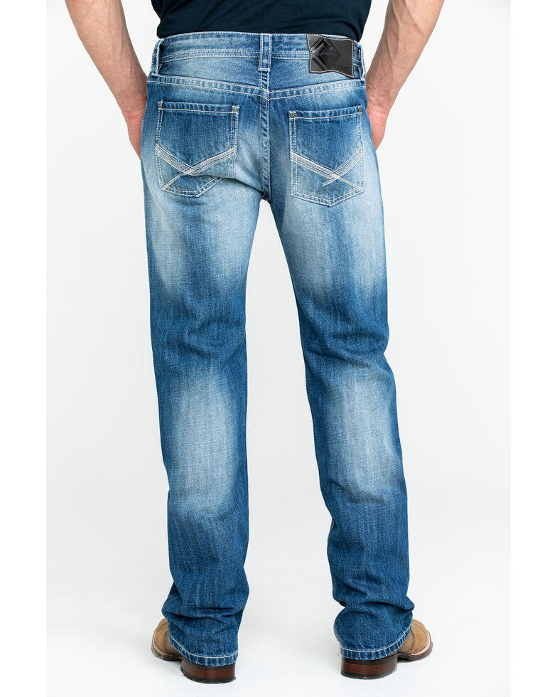 Rock & Roll Cowboy Men's Light X Pocket Vintage Pistol Straight Jeans , Blue, hi-res