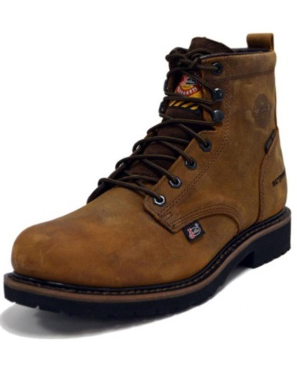 Justin Men's Waterproof Steel Toe Work Boots, Brown, hi-res