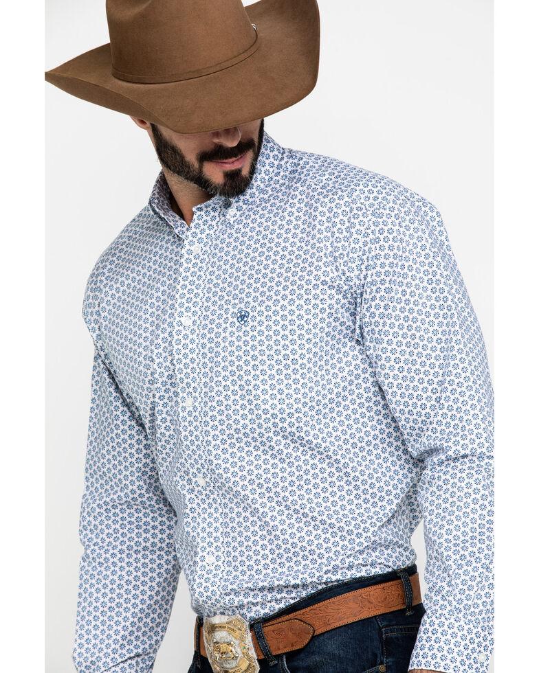 Ariat Men's Lamar Stretch Geo Print Long Sleeve Western Shirt - Big , Multi, hi-res