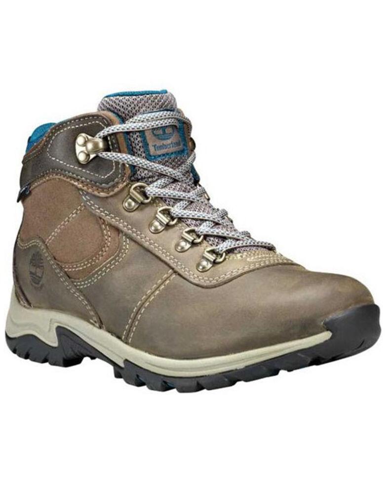 Timberland Women's Mt. Maddsen Waterproof Hiking Boots - Soft Toe, Grey, hi-res