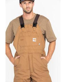 Carhartt Men's Flame-Resistant Duck Quilt-Lined Bib Overalls, Carhartt Brown, hi-res
