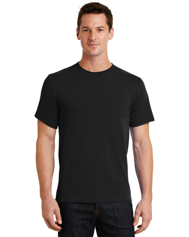 Port & Company Men's Essential Solid Short Sleeve Work T-Shirt , Black, hi-res