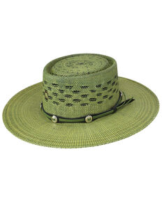 Charlie 1 Horse Women's Palm Beach Western Fashion Straw Hat , Green, hi-res