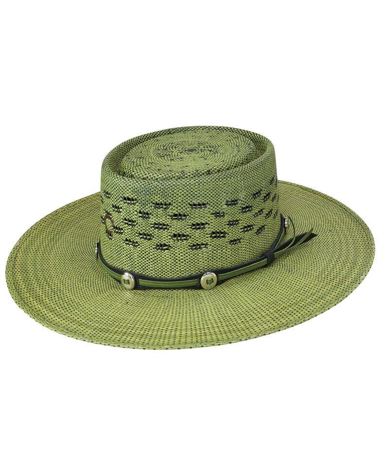 Charlie 1 Horse Women's Palm Beach Western Fashion Straw Hat , Green, hi-res
