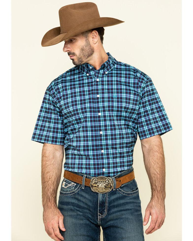 Cinch Men's Arena Flex Multi Plaid Lightweight Short Sleeve Western Shirt , Multi, hi-res