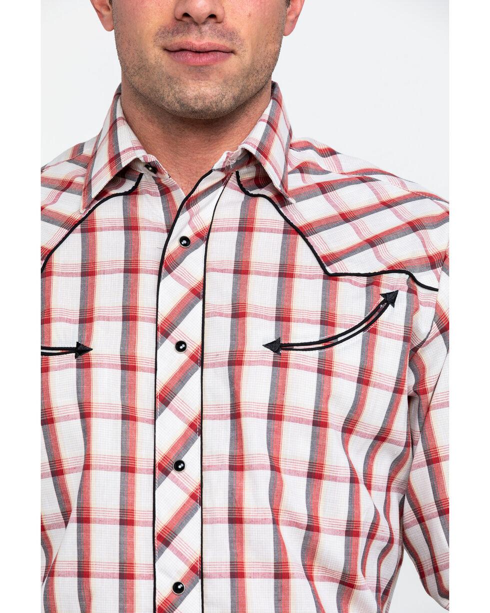 Roper Men's Red Large Fancy Plaid Long Sleeve Western Shirt , Red, hi-res