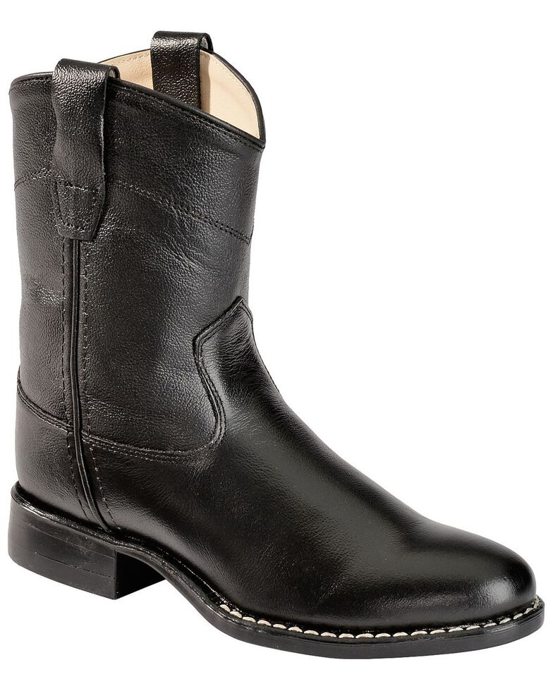 Jama Youth Corona Western Boots, Black, hi-res