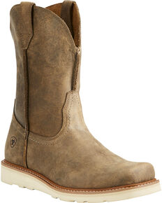 Ariat Men's Rambler Recon Brown Bomber Western Boots - Square Toe, Lt Brown, hi-res