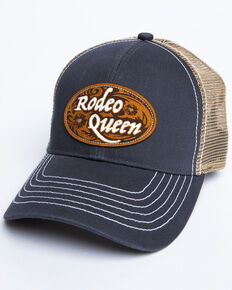 Shyanne Women's Rodeo Queen Patch Mesh Cap , Grey, hi-res