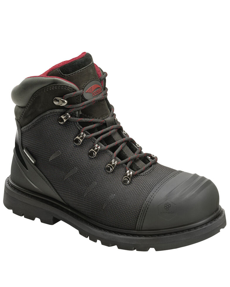 "Avenger Men's AMAX 6"" Work Boots - Carbon Toe, Black, hi-res"