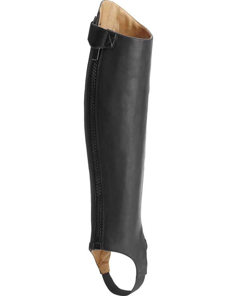 Ariat Unisex Close Contour Half Chaps, Black, hi-res