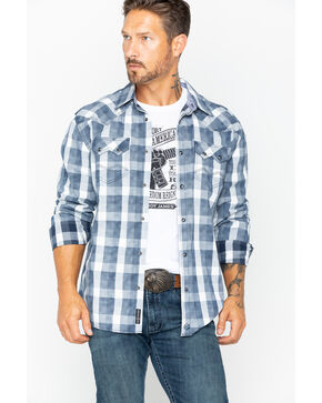 Moonshine Spirit Men's Dispatch Check Button Shirt , Blue, hi-res