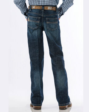 Cinch Boys' Carter Dark Wash Slim Fit Jeans (8-18) - Boot Cut, Blue, hi-res