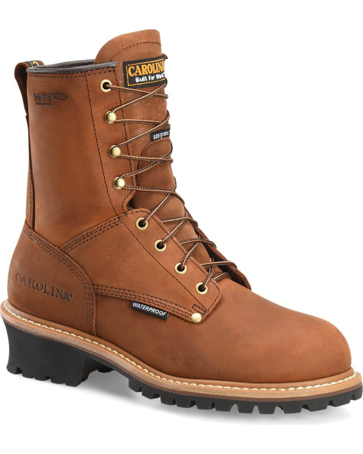 Carolina 8 Domestic Broad Toe External Metguard Work Boot Mens D10