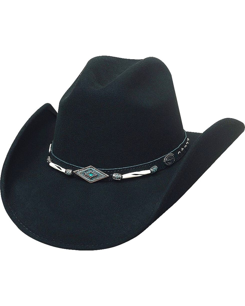 Bullhide Women's Mojave Wool Hat, Black, hi-res