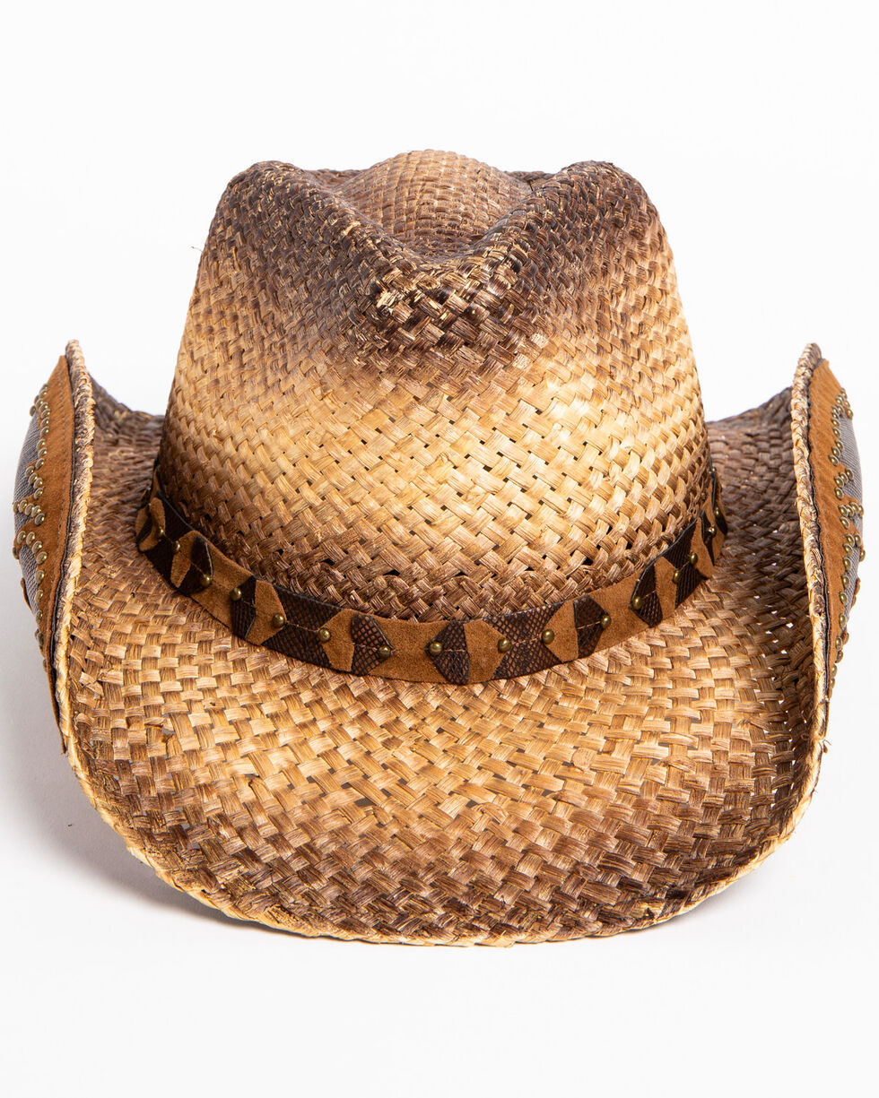 Shyanne® Women's Rustic Tan Straw Hat, Brown, hi-res