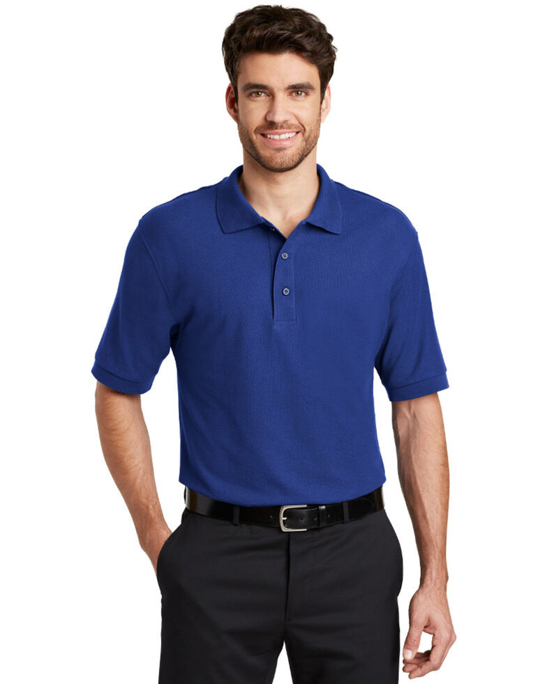 Port Authority Men's Silk Touch Short Sleeve Polo Shirt , Royal Blue, hi-res