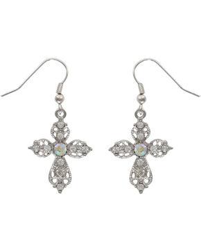 Shyanne® Women's Victorian Cross Earrings, Silver, hi-res