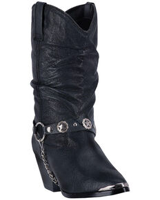 Dingo Women's Bailey Western Boots, Black, hi-res