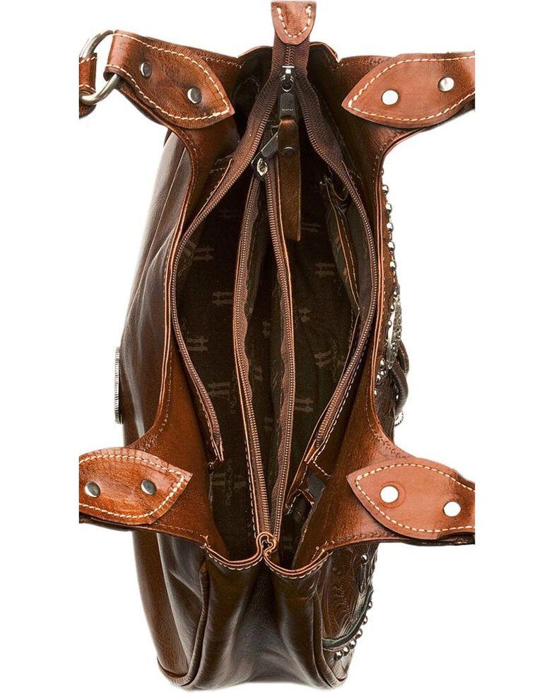 American West Lady Lace Tote Handbag, Tan, hi-res